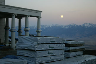 Moonrise over the Absaroka Mountains